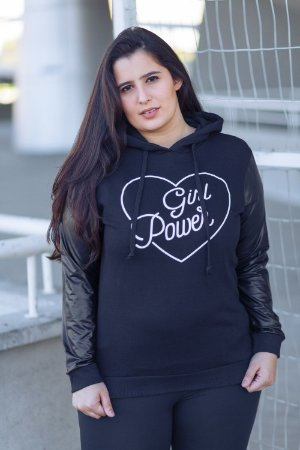 Moletom Capuz Girl Power Vintage