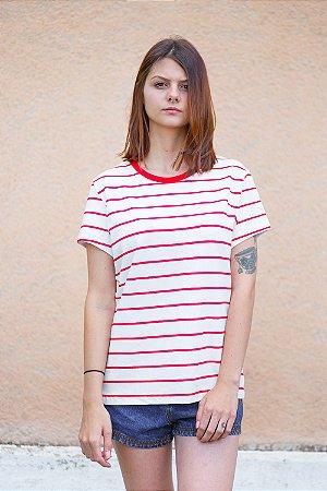 Camiseta Feminina Listrada Dália