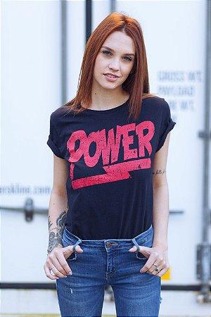 Camiseta Feminina Power Preta