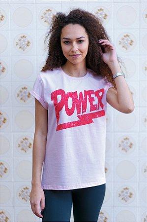 Camiseta Feminina Power Rosa