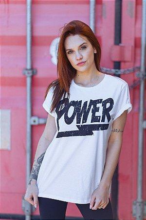 Camiseta Feminina Power Branca