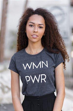 Camiseta Feminina WMN PWR Cinza