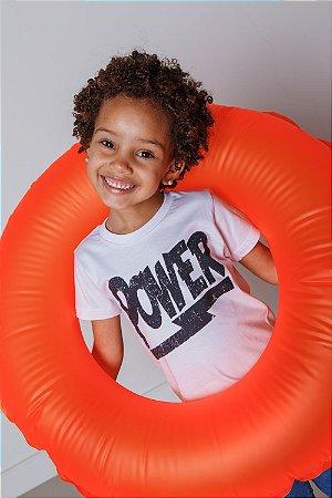 Camiseta Infantil Power Branca
