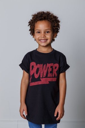 Camiseta Infantil Power Preta