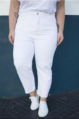 Calça Jeans Mom Vintage Branca