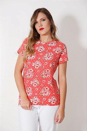 Camiseta Feminina Camélia Coral