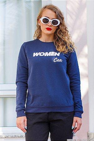 Moletom Azul Marinho Women Can