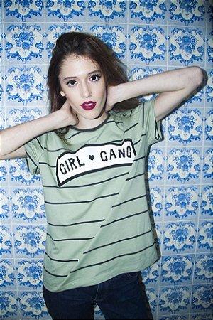 Camiseta Girl Gang Verde