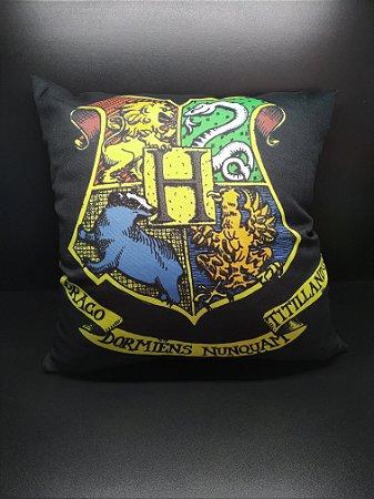 Almofada Hogwarts preta