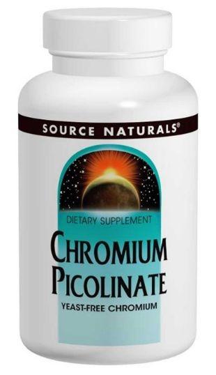 Cromo Picolinato (Chromium Picolinate), Source Naturals, 200 mcg, 240 Tablets