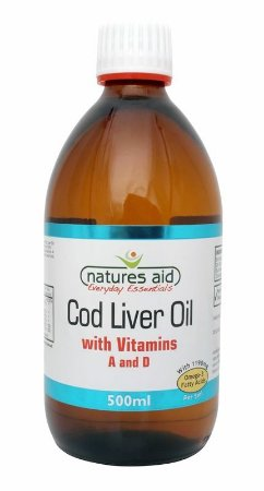 Óleo de Fígado de Bacalhau Líquido, Nature Aid, 500ml