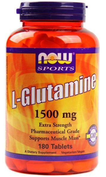 L-Glutamina, Now Foods, 1.500 mg, 180 Tablets