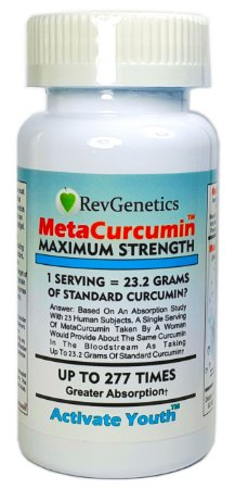 MetaCurcumin, Força máxima, Revgenetics, 60 Cápsulas
