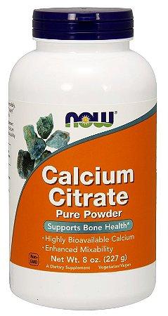 Citrato de cálcio puro pó, Now Foods, 227g