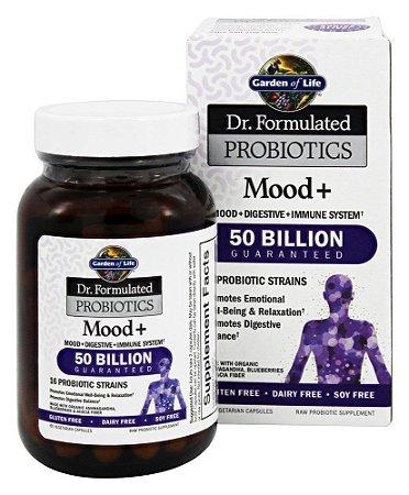 Probiótico do Humor 50 Bilhoes de Celulas estabilizadas, Garden Of Life - 60 Capsulas