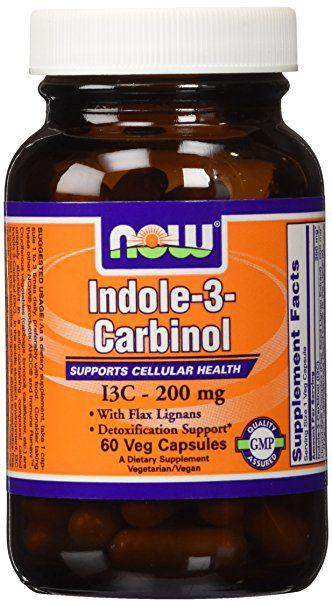 I3C - Indole 3 Carbinol, NOW Foods, 60 caps
