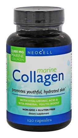 Colágeno Marinho com ácido hialurônico & Vita-Mineral, NeoCell, 2.000mg, 120 cápsulas