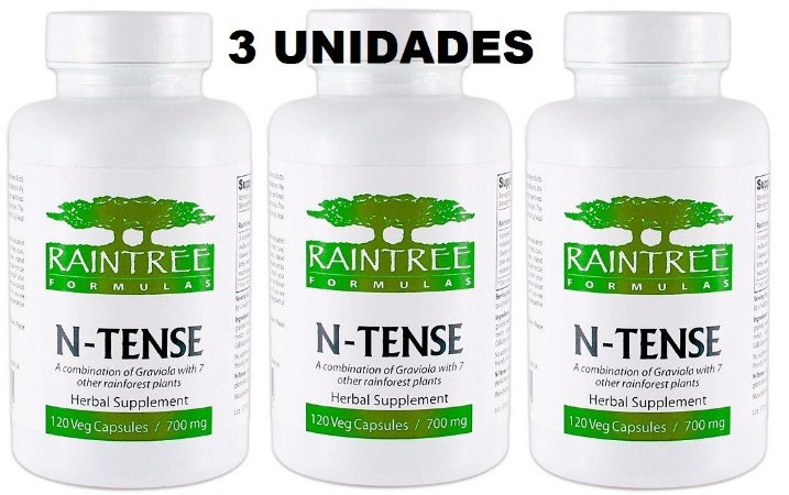 N-Tense, Raintree Formulas - 3 unidades (Promoção por tempo Limitado)
