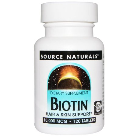Biotin, Source Naturals, 10.000 mcg, 120 Tablets