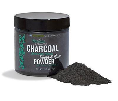 Goma em pó NATURAL com Carvão Ativado, Sabor Canela, In Vitamin