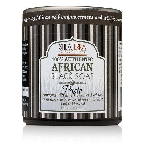 Pasta pura e autentica do sabonete africano, Shea Terra Organics, 118ml