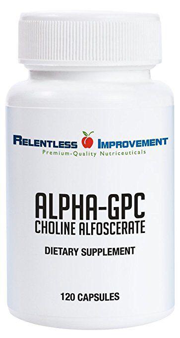 Alpha GPC, Relentless Improvement, 300mg, 120 capsulas
