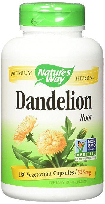 Dente de Leão (Dandelion Root), Nature's Way, 525 mg, 180 Veggie Caps