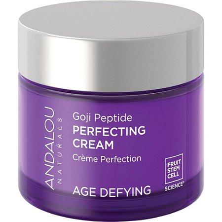Creme para Rosto e pescoço, Perfecting Cream, Goji Peptide, Age Defying, Andalou Naturals, 1.7 fl oz (50 ml)