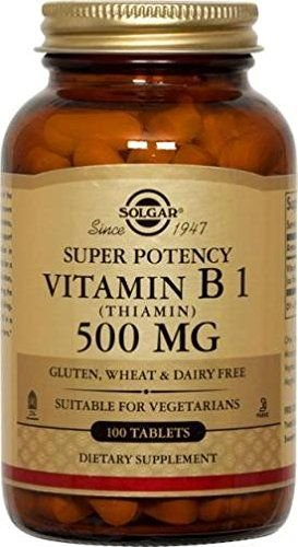 Vitamina B1 (Thiamin), Solgar, 500 mg, 100 Tablets
