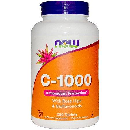 Vitamina C com Rose Hips & Bioflavonoides, 1.000mg, 250 tabletes