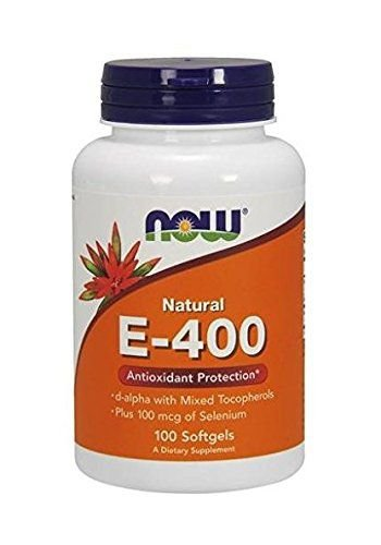 Vitamina E-400 100% Natural, Now Foods, 400 IU, 100 SOFTGELS