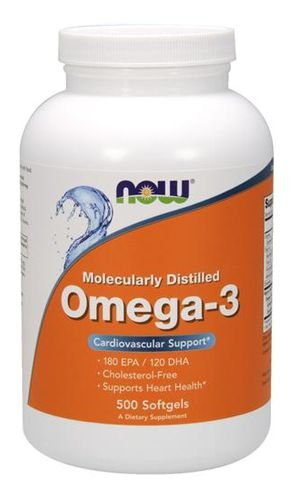 Omega-3, Now Foods, 1.000 mg, 500 Softgels