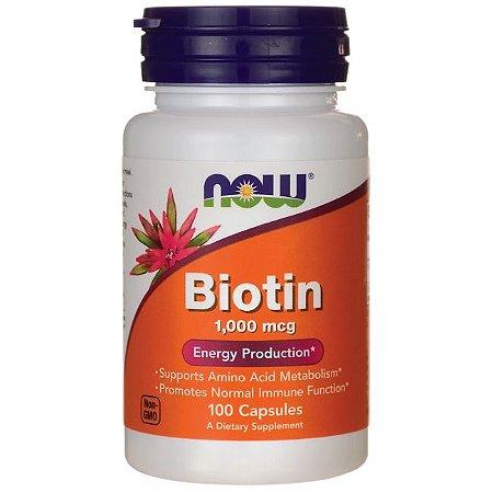 Biotina, 1000 mcg, Now Foods, 100 Capsules