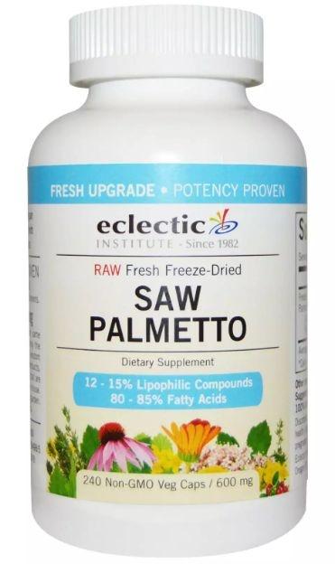 Saw Palmetto, 600 mg, Eclectic Institute, 240 Veggie Caps