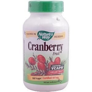 Cranberry Fruit, Nature's Way, 465 mg, 180 Vcaps