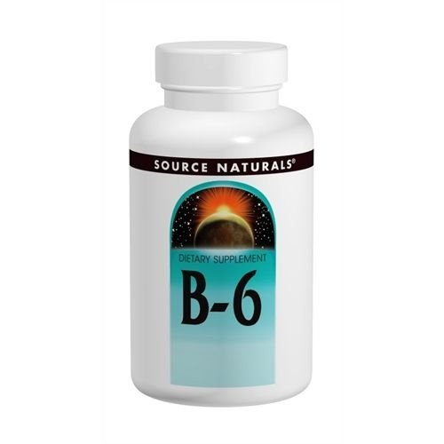 B-6, Source Naturals, 50 mg, 250 Tablets