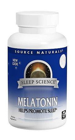Melatonina Sublingual Sabor Laranja, Source Naturals, 5 mg, 200 Tablets