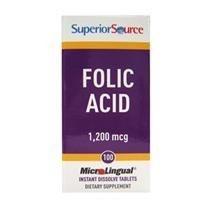 Ácido Fólico MicroLingual, 1200 mcg, 100 tabletes instantâneos