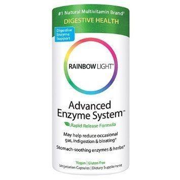 Enzimas Digestivas com Prebióticos e Probióticos, Rainbow Light, 90 Vcaps