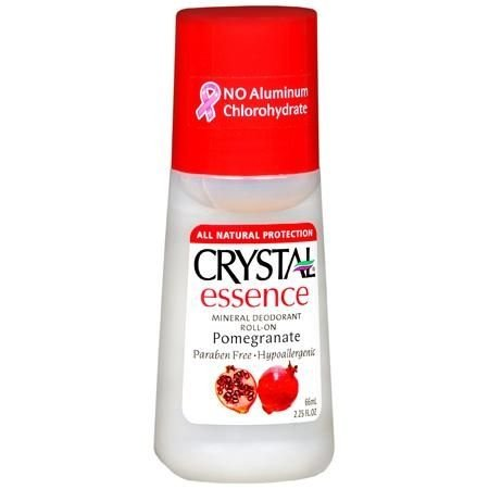 Desodorante Mineral Essência de Romã, Roll-On, Crystal, 66 ml