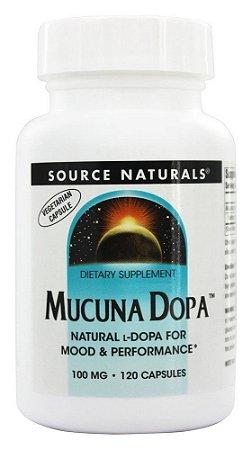 Mucuna Dopa, Source Naturals, 100 mg, 120 Capsules