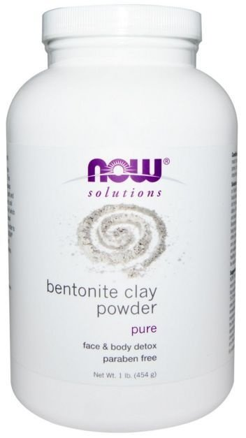 Bentonite em Pó, 100% Puro Clay, Now Foods, 454 g