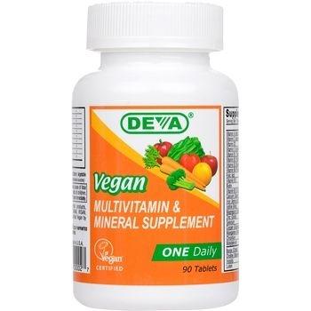 Multivitamínico Suplemento Mineral & Uma por Dia, 100% Vegano, Deva, 90 tabletes