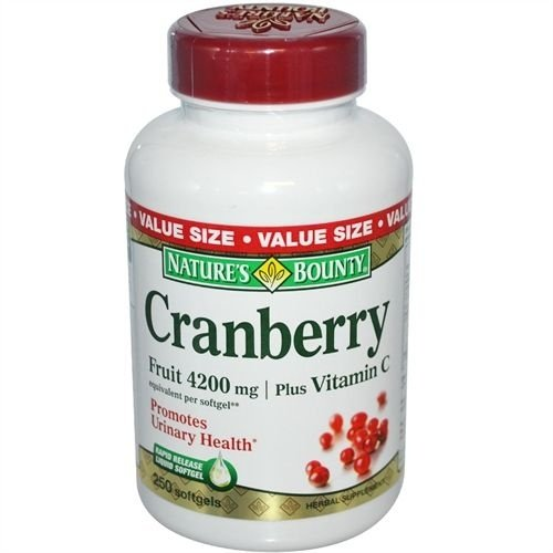Cranberry Plus Vitamina C, Nature's Bounty, 4.200mg, 250 Softgels