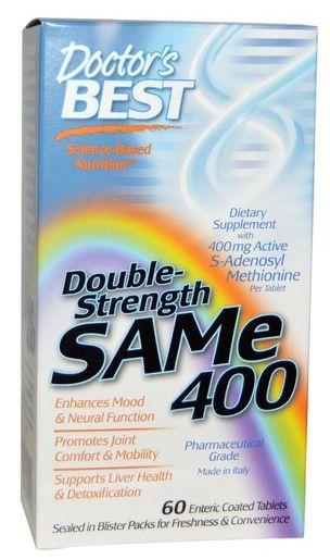 SAM-e 400, Dupla Força, Doctor's Best, 60 Tabletes Entéricos