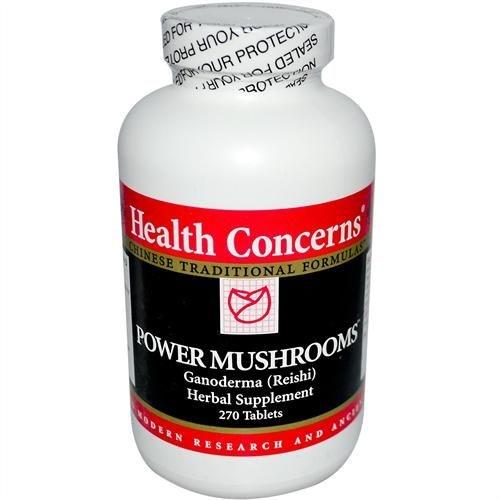 Cogumelos em Pó, Ganoderma (Reishi), Health Concerns, 650mg, 270 Tablets