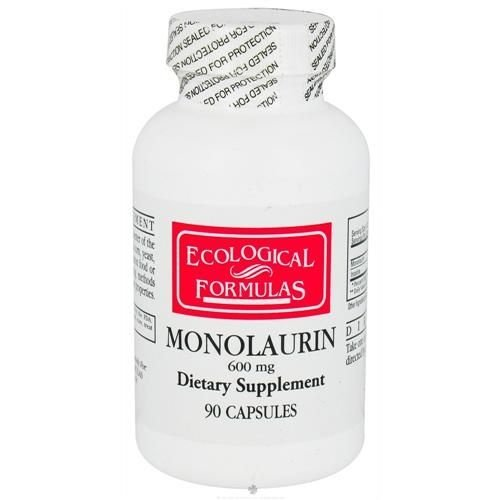 Monolaurina, Ecological Formulas, Cardiovascular Research Ltd., 600 mg, 90 Capsules