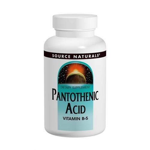 Ácido Pantotênico(Vitamina B-5), Source Naturals, 500 mg, 200 comprimidos