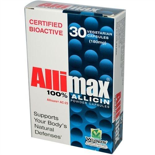 100% Cápsulas de Alicina em pó, Allimax, 180 mg, 30 Veggie Caps
