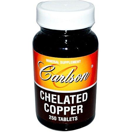 Cobre Quelato, Carlson, 5 mg 250 Cápsulas